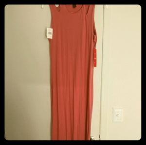 Rose cut shoulder dress